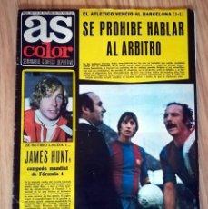 Coleccionismo deportivo: REVISTA DEPORTIVA AS COLOR Nº 284 AÑO 1976 POSTER MIGUEL ANGEL REAL MADRID ORANTES CRUYFF. Lote 249441140
