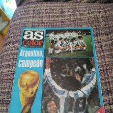 Coleccionismo deportivo: REVISTA AS COLOR NÚMERO 371 CON POSTER. Lote 249874835