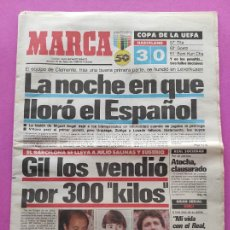 Coleccionismo deportivo: DIARIO MARCA FINAL COPA UEFA 87/88 RCD ESPAÑOL - BAYER LEVERKUSEN - ESPANYOL 1987/1988 - SANTILLANA. Lote 250130290
