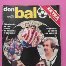 Coleccionismo deportivo: EXTRA DON BALON GUIA LIGA 77-78 REVISTA ESPECIAL TEMPORADAL 1977 1978 GUIDE POSTER FUTBOL. Lote 250318555