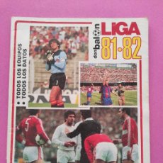 Coleccionismo deportivo: EXTRA DON BALON GUIA LIGA 81-82 REVISTA ESPECIAL TEMPORADA 1981 1982 GUIDE POSTER FUTBOL. Lote 250319685