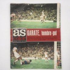 """Coleccionismo deportivo: AS SEMANARIO GRAFICO DEPORTIVO """" GARATE HOMBRE GOL"""" 11/9/1973. Lote 251567745"""