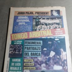Coleccionismo deportivo: SPORT 30 ABRIL 1984 - ATH BILBAO CAMPEON . R.MADRID SUBCAMPEON. BARCELONA TERCERO. TONGO ARBITRAL. Lote 287880548