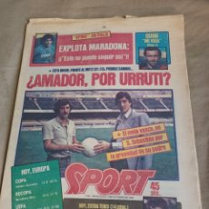 "Coleccionismo deportivo: SPORT 3 OCTUBRE 1984.BARCA -METZ .RECOPA - QUINI "" MI VIDA "". EXPLOTA MARADONA.. Lote 251801380"