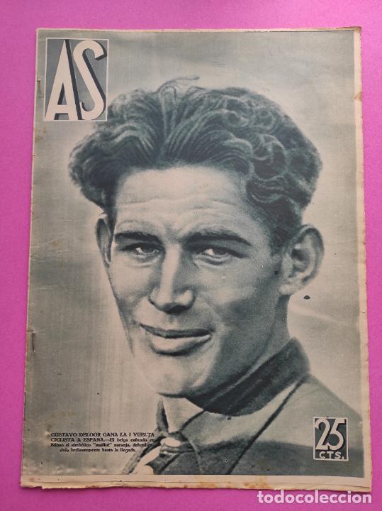 PERIODICO AS 1935 Nº EXTRAORDINARIO GUSTAVO DELOOR GANADOR PRIMERA VUELTA CICLISTA - ALEMANIA-ESPAÑA (Coleccionismo Deportivo - Revistas y Periódicos - As)