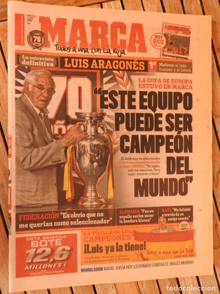 Coleccionismo deportivo: LOTE 10 PERIODICOS MARCA Y AS EUROCOPA 2008 MUNDIAL 2010 SUDAFRICA Y EUROCOPA 2012 FUTBOL - Foto 10 - 251938510