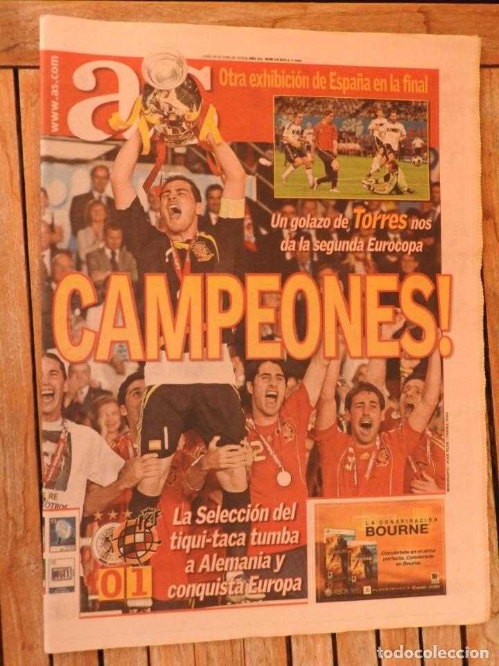 Coleccionismo deportivo: LOTE 10 PERIODICOS MARCA Y AS EUROCOPA 2008 MUNDIAL 2010 SUDAFRICA Y EUROCOPA 2012 FUTBOL - Foto 5 - 251938510