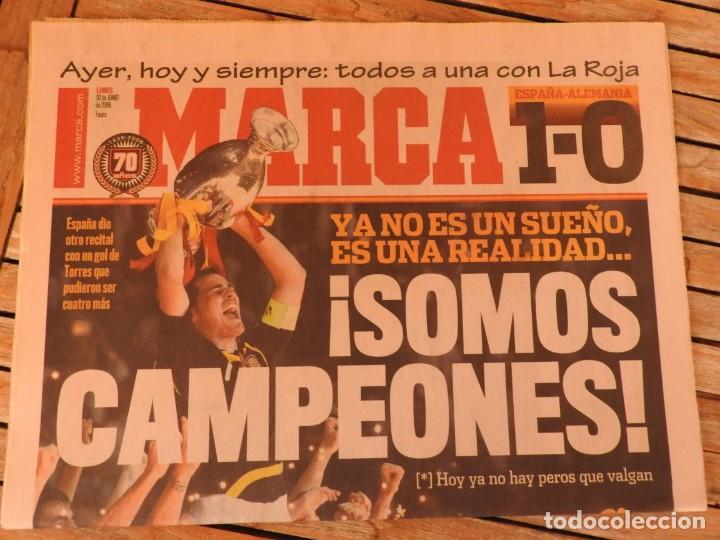 LOTE 10 PERIODICOS MARCA Y AS EUROCOPA 2008 MUNDIAL 2010 SUDAFRICA Y EUROCOPA 2012 FUTBOL (Coleccionismo Deportivo - Revistas y Periódicos - Marca)