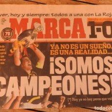 Coleccionismo deportivo: LOTE 10 PERIODICOS MARCA Y AS EUROCOPA 2008 MUNDIAL 2010 SUDAFRICA Y EUROCOPA 2012 FUTBOL. Lote 251938510