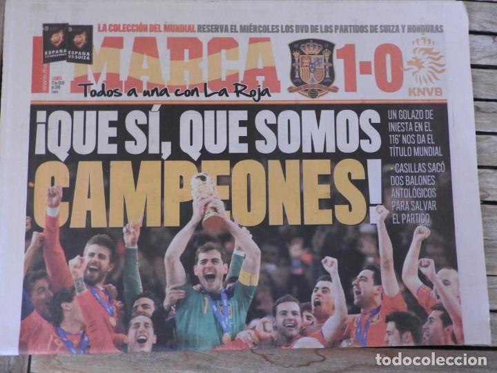 Coleccionismo deportivo: LOTE 10 PERIODICOS MARCA Y AS EUROCOPA 2008 MUNDIAL 2010 SUDAFRICA Y EUROCOPA 2012 FUTBOL - Foto 6 - 251938510