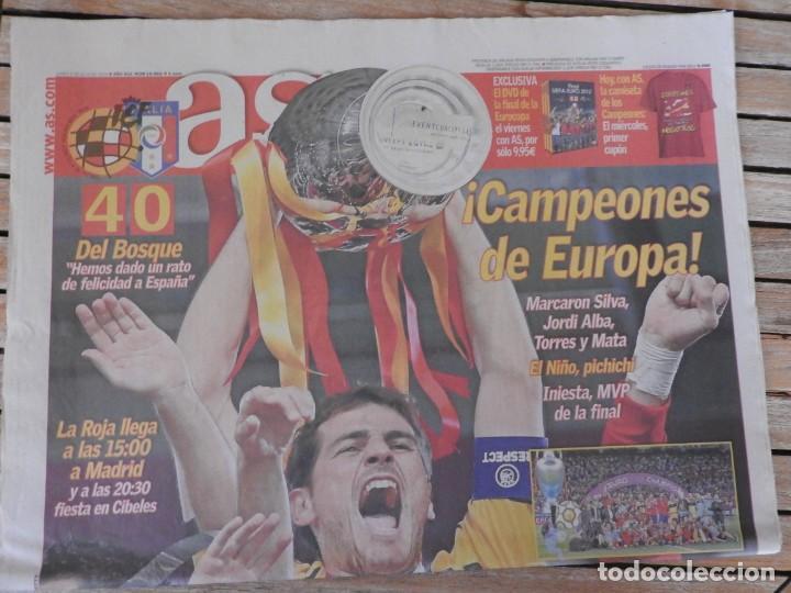 Coleccionismo deportivo: LOTE 10 PERIODICOS MARCA Y AS EUROCOPA 2008 MUNDIAL 2010 SUDAFRICA Y EUROCOPA 2012 FUTBOL - Foto 9 - 251938510