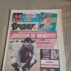 Collectionnisme sportif: SPORT 22 MAYO 1984. ¿ SUCESOR DE MENOTTI? . LAS CATALANAS CONQUISTARON EL HIMALAYA- AMANCIO R.MADRID. Lote 251971285