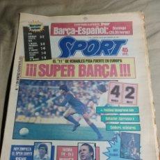 Coleccionismo deportivo: SPORT 20 SEPTIEMBRE 1984. METZ 2 BARCA 4. GIRONDINS 3 ATHLETIC 2 - R MADRID 5 INNSBRUCK 0 .BETIS 1 C. Lote 252076790