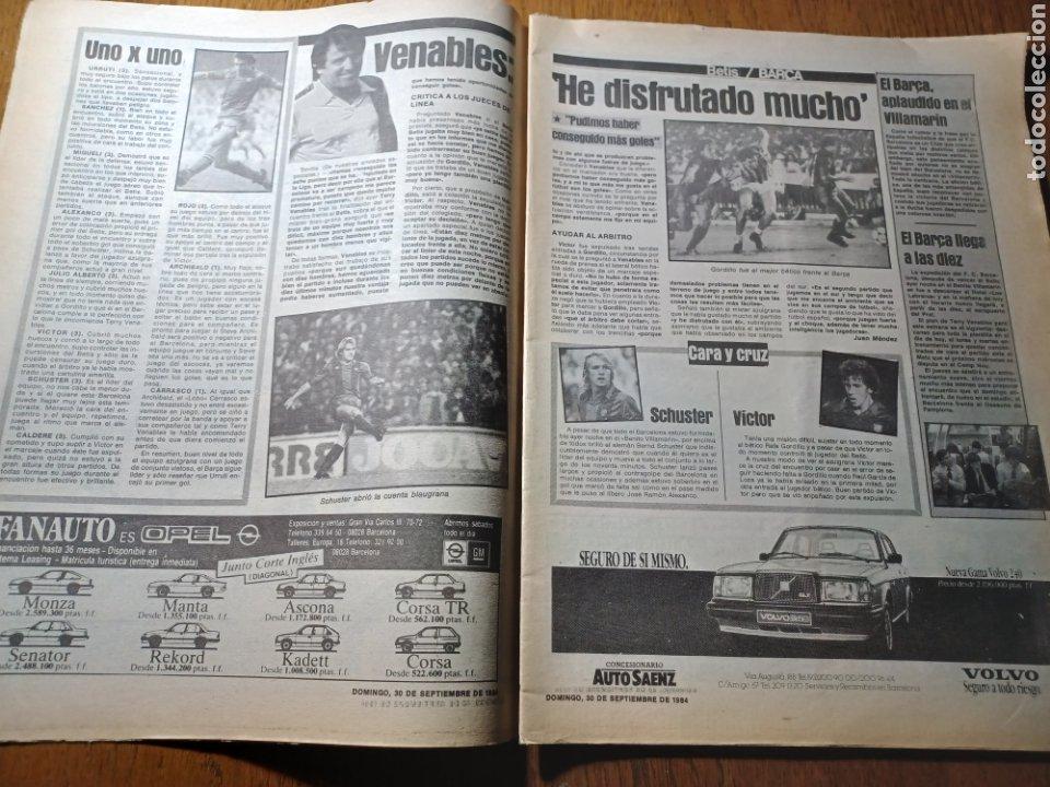 Coleccionismo deportivo: SPORT 30 SEPTIEMBRE 1984. BARCA: ¡MAS LIDER !. BETIS 1 BARCA 2 - JORGE VALDANO -KARPOV , KASPAROV - Foto 3 - 252386555