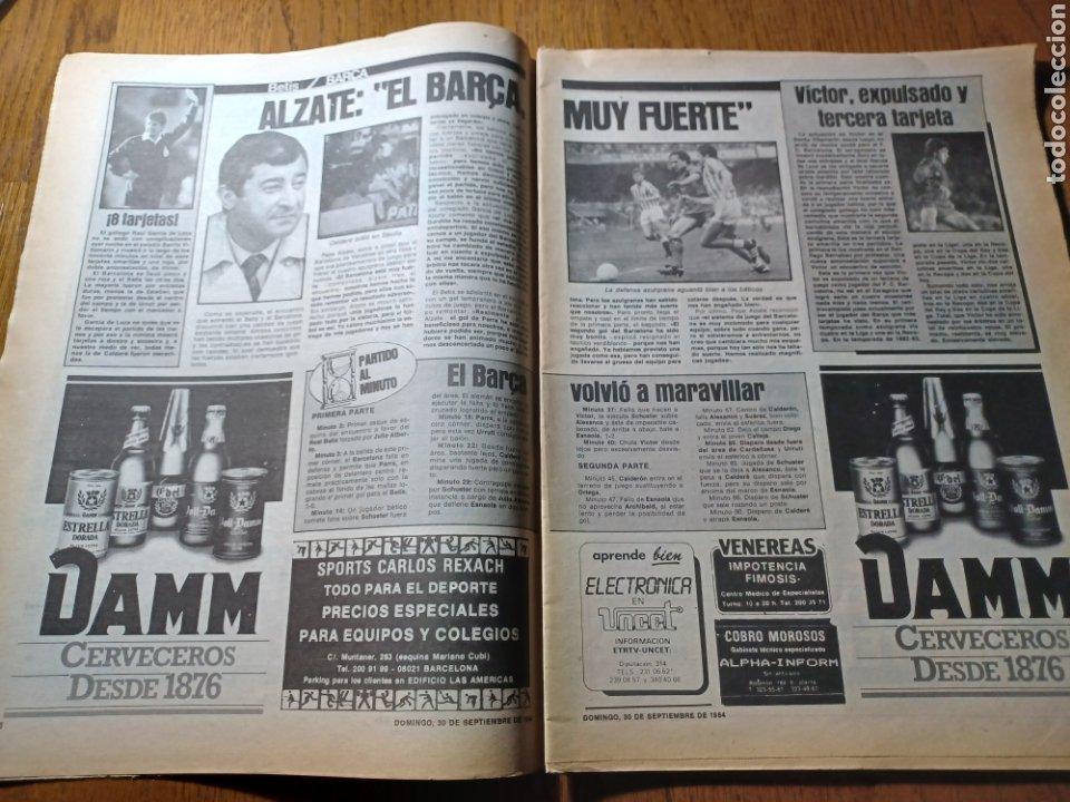 Coleccionismo deportivo: SPORT 30 SEPTIEMBRE 1984. BARCA: ¡MAS LIDER !. BETIS 1 BARCA 2 - JORGE VALDANO -KARPOV , KASPAROV - Foto 4 - 252386555