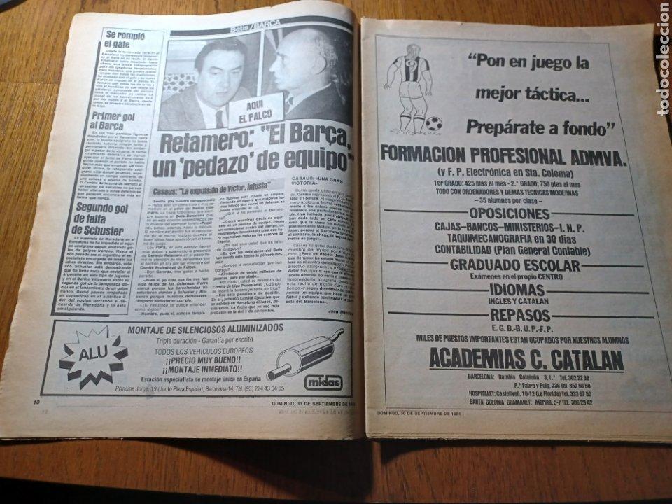 Coleccionismo deportivo: SPORT 30 SEPTIEMBRE 1984. BARCA: ¡MAS LIDER !. BETIS 1 BARCA 2 - JORGE VALDANO -KARPOV , KASPAROV - Foto 6 - 252386555