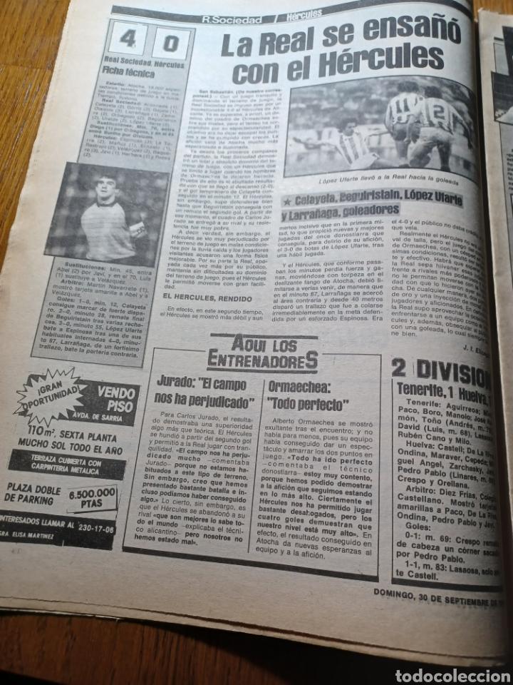 Coleccionismo deportivo: SPORT 30 SEPTIEMBRE 1984. BARCA: ¡MAS LIDER !. BETIS 1 BARCA 2 - JORGE VALDANO -KARPOV , KASPAROV - Foto 7 - 252386555