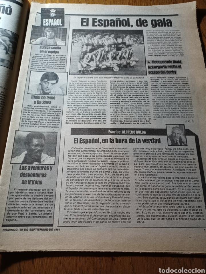 Coleccionismo deportivo: SPORT 30 SEPTIEMBRE 1984. BARCA: ¡MAS LIDER !. BETIS 1 BARCA 2 - JORGE VALDANO -KARPOV , KASPAROV - Foto 8 - 252386555