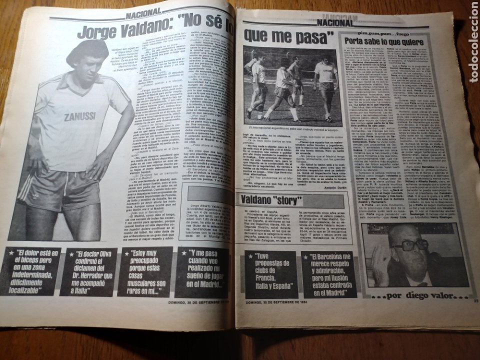 Coleccionismo deportivo: SPORT 30 SEPTIEMBRE 1984. BARCA: ¡MAS LIDER !. BETIS 1 BARCA 2 - JORGE VALDANO -KARPOV , KASPAROV - Foto 9 - 252386555