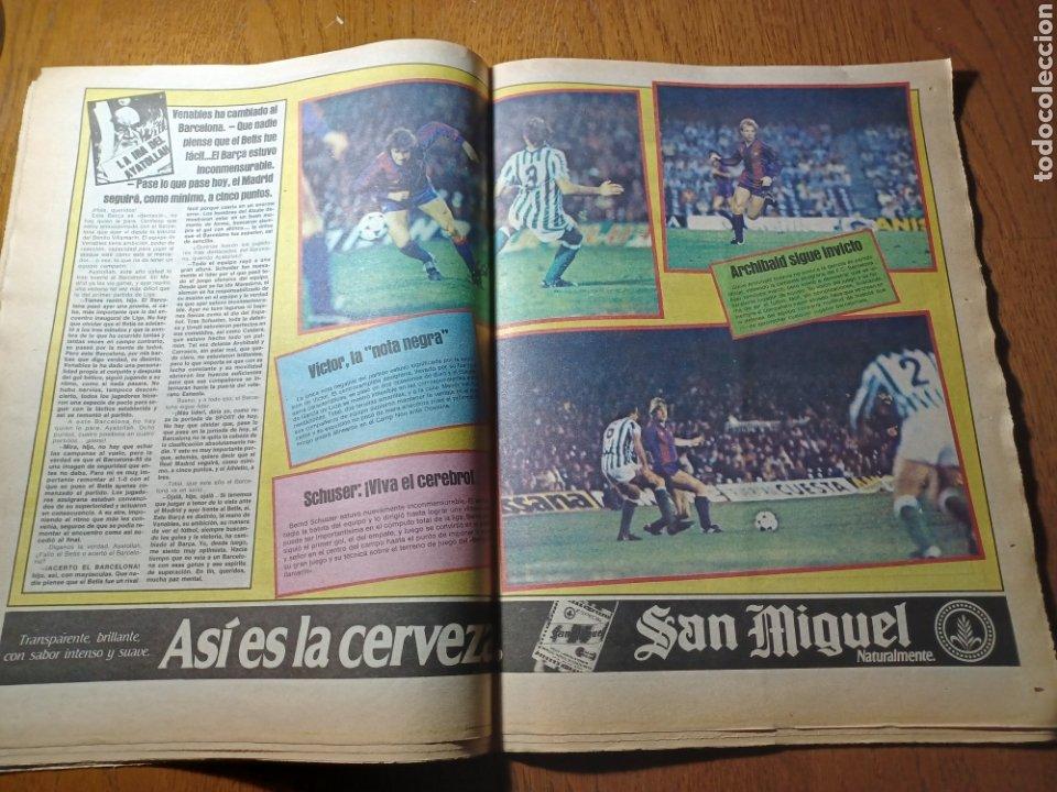 Coleccionismo deportivo: SPORT 30 SEPTIEMBRE 1984. BARCA: ¡MAS LIDER !. BETIS 1 BARCA 2 - JORGE VALDANO -KARPOV , KASPAROV - Foto 10 - 252386555