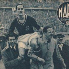 Colecionismo desportivo: MARCA Nº 166 MADRID 1942 OLIMPIADA BERLIN ESPAÑA Y ALEMANIA EMPATAN ALBERTY PORTERO DEL GRANADA. Lote 252420955