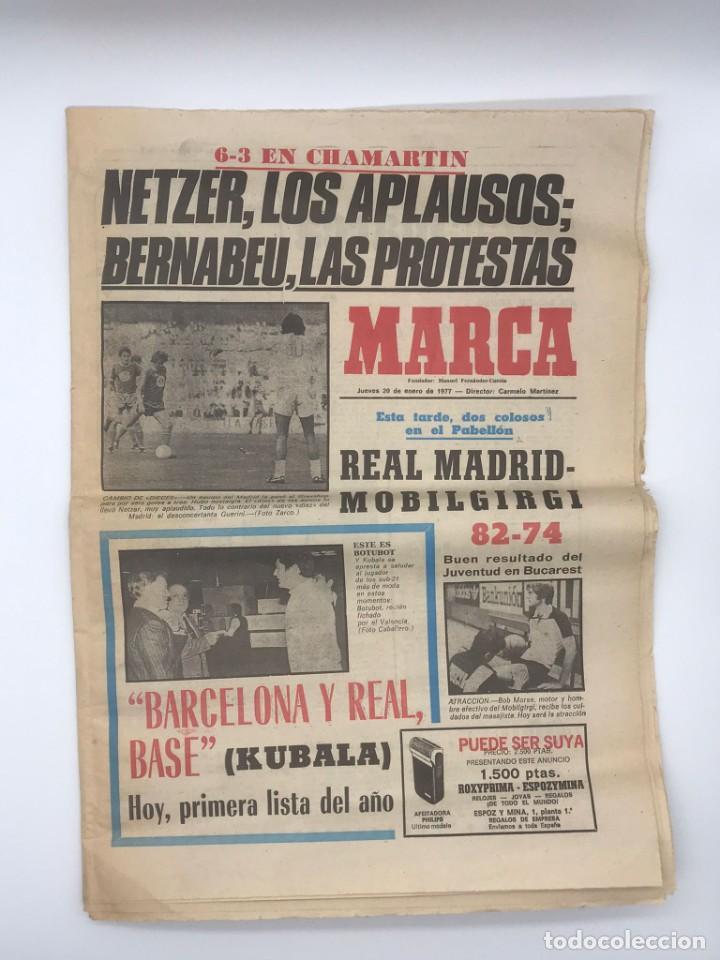 PERIODICO DEPORTIVO MARCA - 20 DE ENERO DE 1977 (Coleccionismo Deportivo - Revistas y Periódicos - Marca)