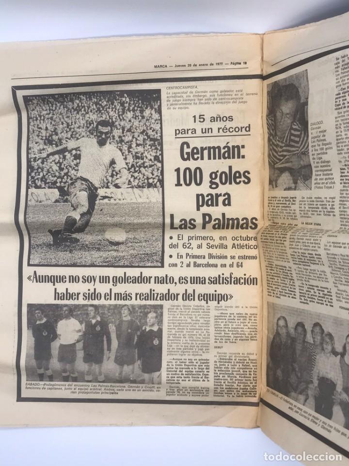 Coleccionismo deportivo: PERIODICO DEPORTIVO MARCA - 20 DE ENERO DE 1977 - Foto 2 - 252422390