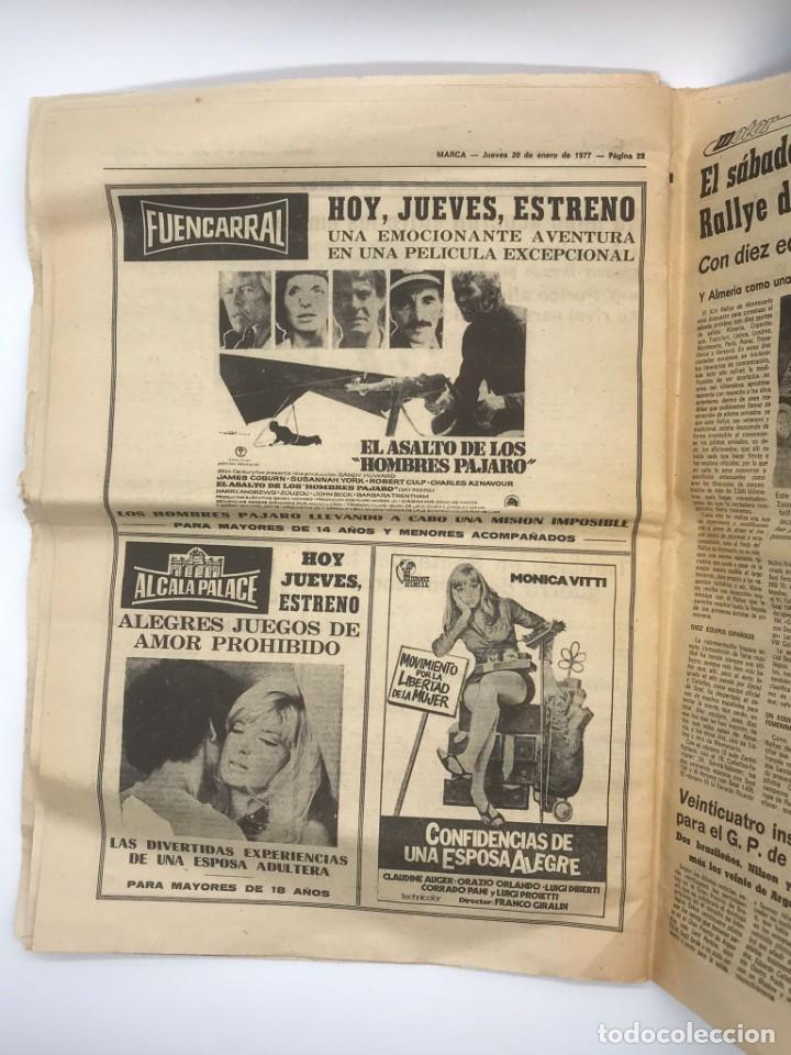 Coleccionismo deportivo: PERIODICO DEPORTIVO MARCA - 20 DE ENERO DE 1977 - Foto 4 - 252422390