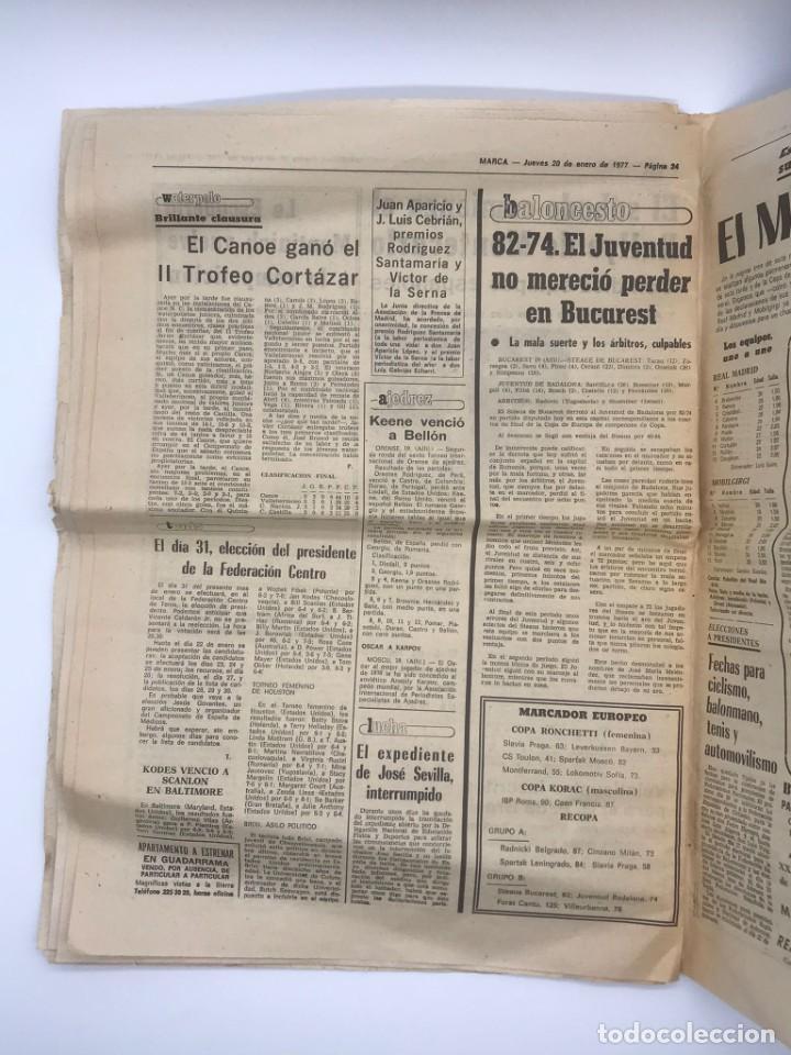 Coleccionismo deportivo: PERIODICO DEPORTIVO MARCA - 20 DE ENERO DE 1977 - Foto 6 - 252422390