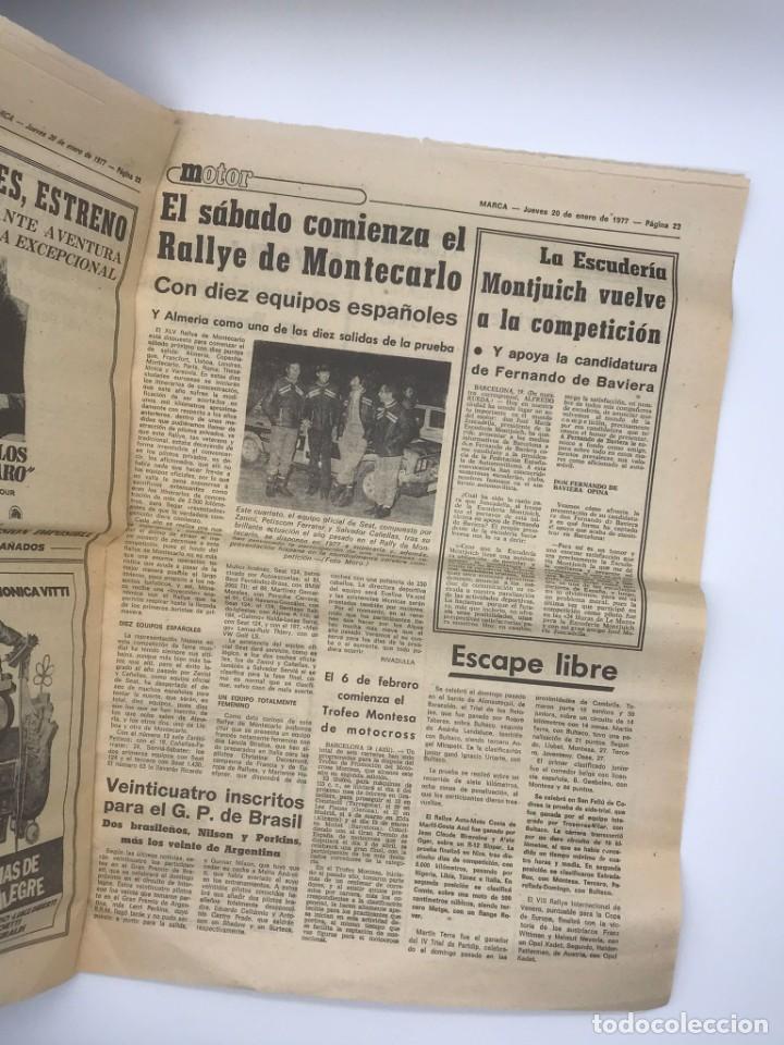Coleccionismo deportivo: PERIODICO DEPORTIVO MARCA - 20 DE ENERO DE 1977 - Foto 7 - 252422390