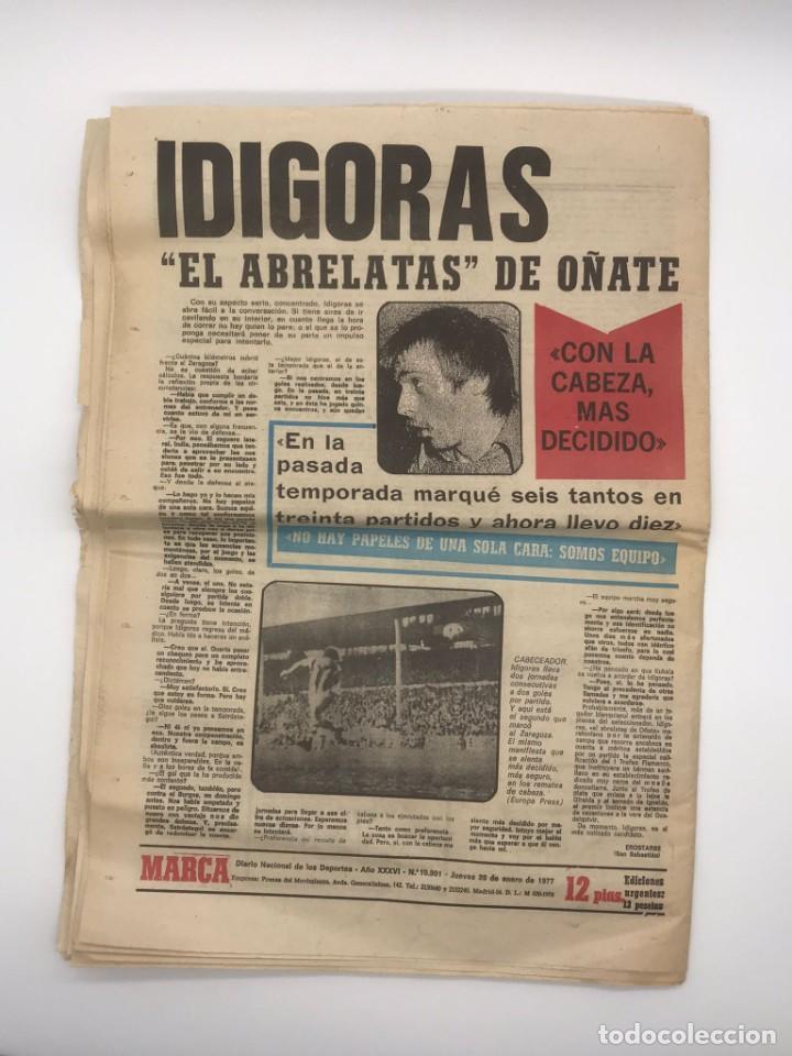 Coleccionismo deportivo: PERIODICO DEPORTIVO MARCA - 20 DE ENERO DE 1977 - Foto 8 - 252422390