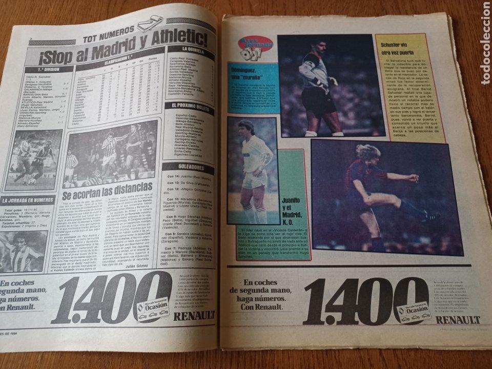 Coleccionismo deportivo: SPORT 5 MARZO 1984. AT.MADRID 1 R.MADRID 0. ATHLETIC 1 ESPAÑOL 1 . SE CALIENTA LA LIGA - Foto 2 - 252454305
