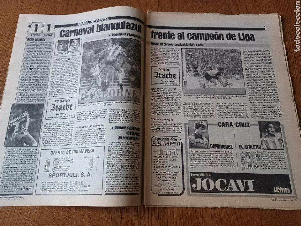 Coleccionismo deportivo: SPORT 5 MARZO 1984. AT.MADRID 1 R.MADRID 0. ATHLETIC 1 ESPAÑOL 1 . SE CALIENTA LA LIGA - Foto 4 - 252454305