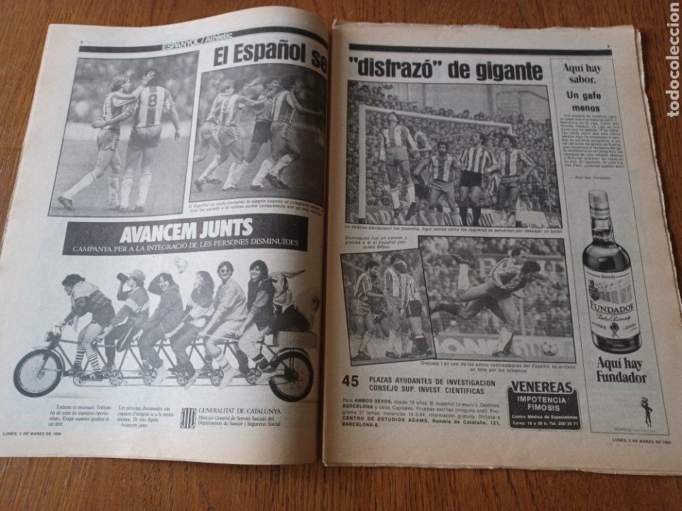 Coleccionismo deportivo: SPORT 5 MARZO 1984. AT.MADRID 1 R.MADRID 0. ATHLETIC 1 ESPAÑOL 1 . SE CALIENTA LA LIGA - Foto 3 - 252454305