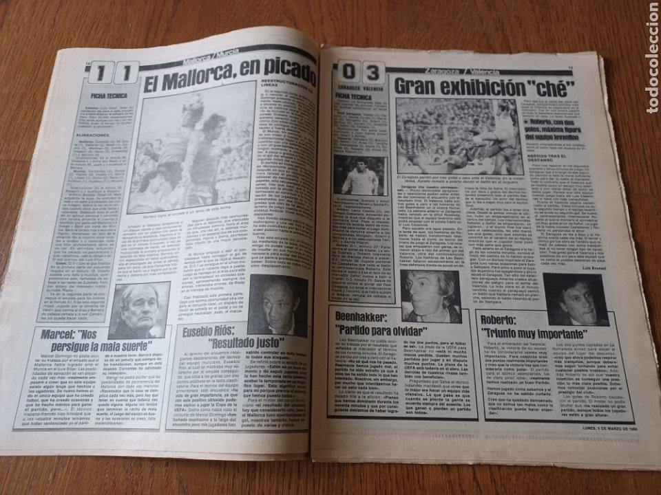 Coleccionismo deportivo: SPORT 5 MARZO 1984. AT.MADRID 1 R.MADRID 0. ATHLETIC 1 ESPAÑOL 1 . SE CALIENTA LA LIGA - Foto 7 - 252454305