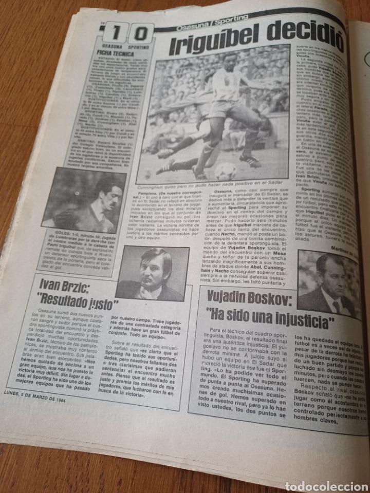 Coleccionismo deportivo: SPORT 5 MARZO 1984. AT.MADRID 1 R.MADRID 0. ATHLETIC 1 ESPAÑOL 1 . SE CALIENTA LA LIGA - Foto 9 - 252454305