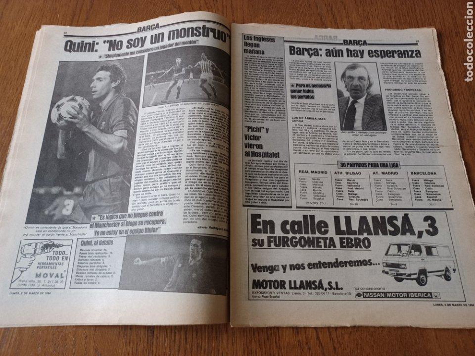 Coleccionismo deportivo: SPORT 5 MARZO 1984. AT.MADRID 1 R.MADRID 0. ATHLETIC 1 ESPAÑOL 1 . SE CALIENTA LA LIGA - Foto 10 - 252454305