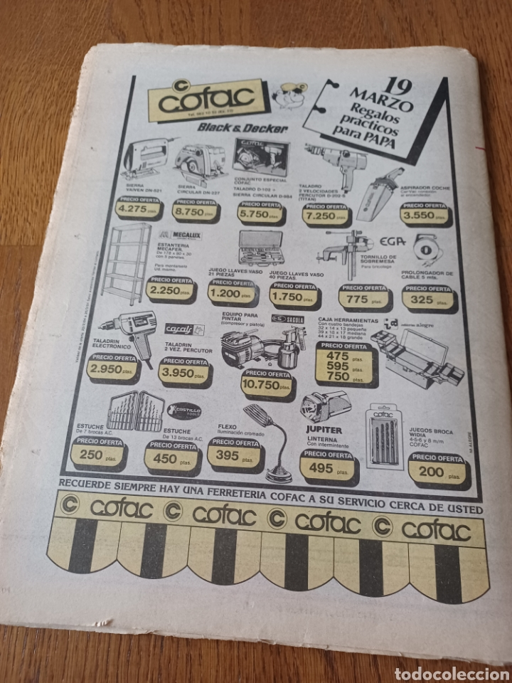 Coleccionismo deportivo: SPORT 5 MARZO 1984. AT.MADRID 1 R.MADRID 0. ATHLETIC 1 ESPAÑOL 1 . SE CALIENTA LA LIGA - Foto 13 - 252454305