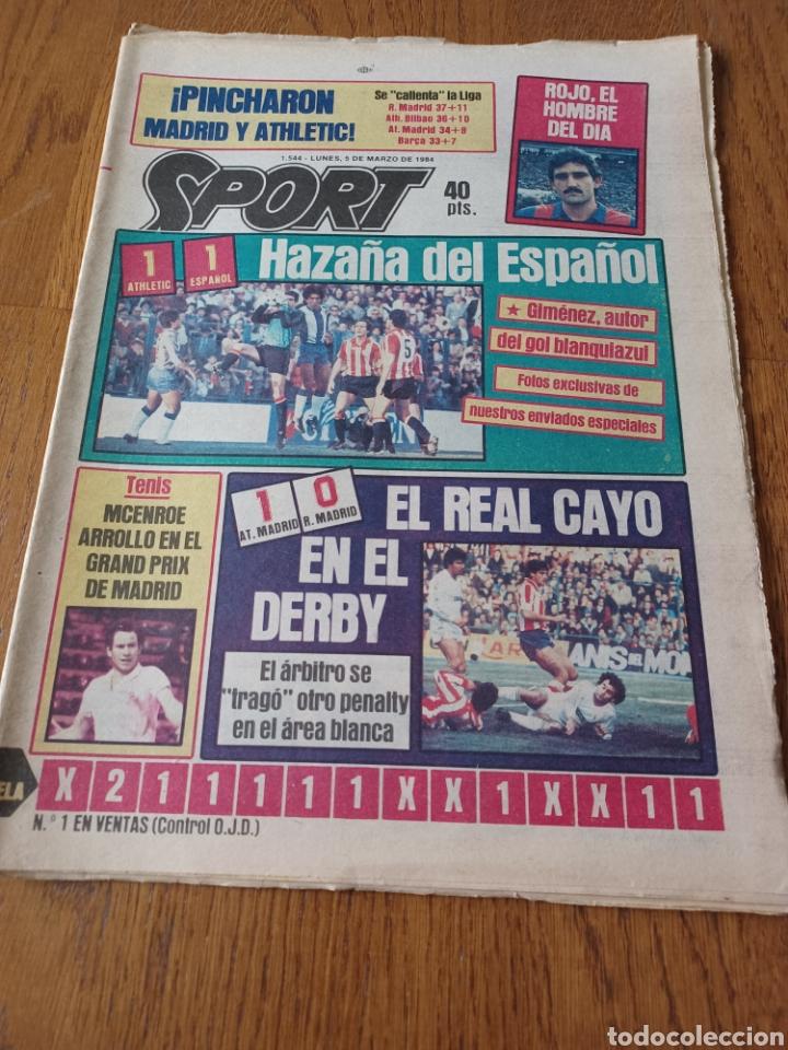 SPORT 5 MARZO 1984. AT.MADRID 1 R.MADRID 0. ATHLETIC 1 ESPAÑOL 1 . SE CALIENTA LA LIGA (Coleccionismo Deportivo - Revistas y Periódicos - Sport)