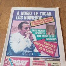 Coleccionismo deportivo: SPORT 1 SEPTIEMBRE 1983. ¿ ESCÁNDALO ECONÓMICO O GUERRA DE NÚMEROS? .A NÚÑEZ LE TOCAN LOS NÚMEROS. Lote 252455965