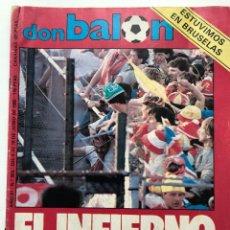 Collectionnisme sportif: REVISTA DON BALÓN FINAL COPA DE EUROPA 1985, TRAGEDIA EN HEYSELB. Lote 252640995