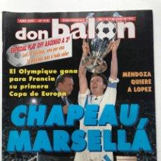 Collectionnisme sportif: REVISTA DON BALÓN FINAL COPA DE EUROPA 1993. OLYMPIQUE DE MARSELLA CAMPEÓN. Lote 252644705