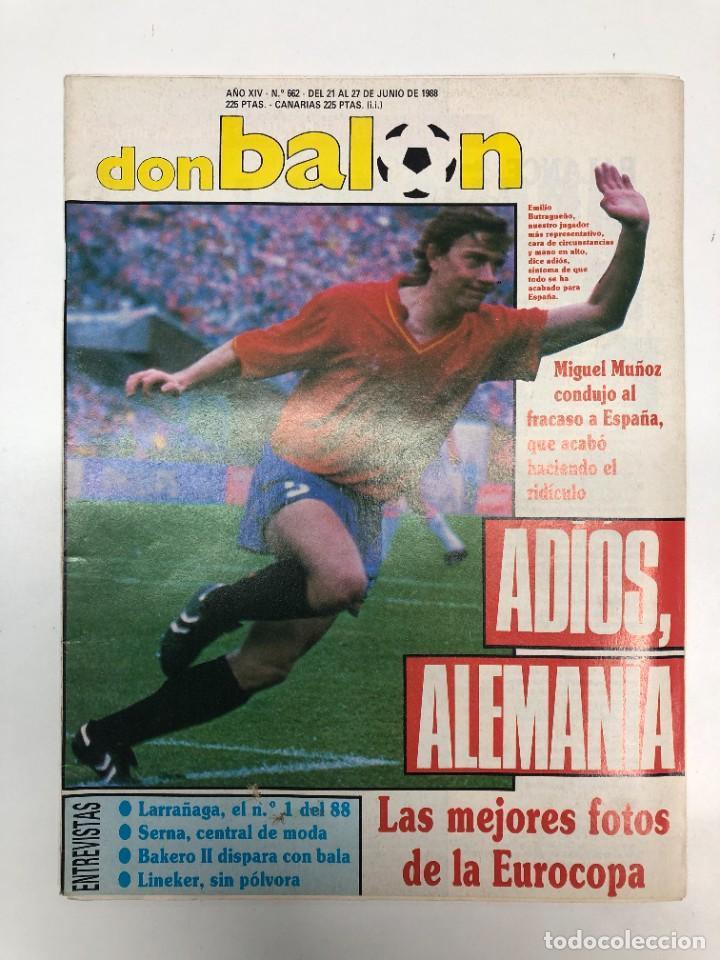 3 REVISTAS DON BALÓN EUROCOPA 1988 (Coleccionismo Deportivo - Revistas y Periódicos - Don Balón)