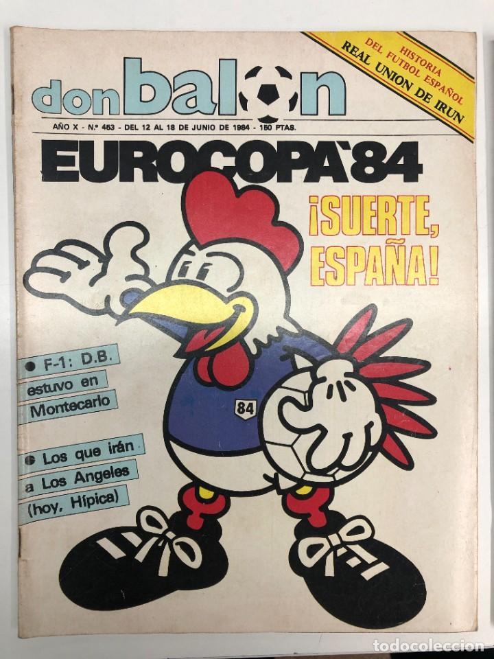 2 REVISTAS DON BALÓN EUROCOPA DE FRANCIA 84 (Coleccionismo Deportivo - Revistas y Periódicos - Don Balón)