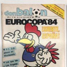 Collectionnisme sportif: 2 REVISTAS DON BALÓN EUROCOPA DE FRANCIA 84. Lote 252700645