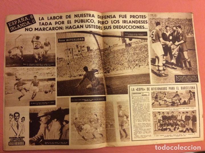 Coleccionismo deportivo: VIDA DEPORTIVA N- 351. ESPAÑA 6- IRLANDA 0 . JUNIO 1952 - Foto 2 - 252776545