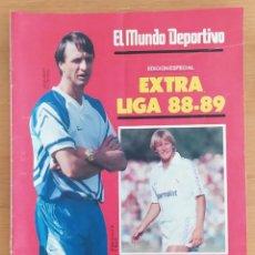 Coleccionismo deportivo: EL MUNDO DEPORTIVO EXTRA LIGA 88-89 1988 1989 POSTER CENTRAL DEL F.C. BARCELONA. Lote 252830415