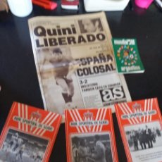Coleccionismo deportivo: PERIODICO AS ,(QUINI LIBERADO Y BOLETINES DEL SPORTING+ DINAMICO ARGENTINA 1978. Lote 252935035