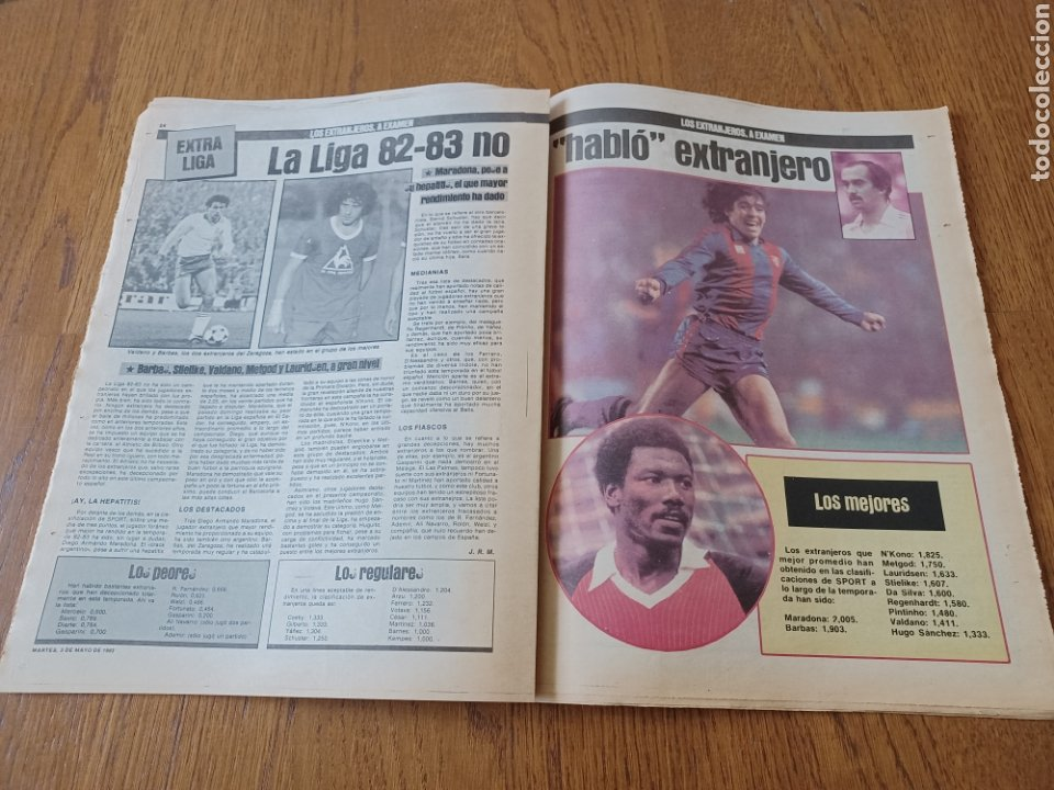 Coleccionismo deportivo: SPORT 3 MAYO 1983.CLEMENTE ¡EL HOMBRE DEL DIA!. MENOTTI ,YA PREPARA LA PRETEMPORADA.EXTRA LIGA 25 pg - Foto 12 - 253125210