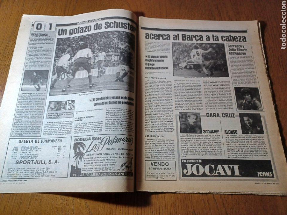 Coleccionismo deportivo: SPORT 12 MARZO 1984 MÁLAGA 0 BARCA1 . ¡ SCHUSTERAZO Y OLE , EN MÁLAGA!- EL MADRID PERDIÓ LA CABEZA. - Foto 3 - 253144575